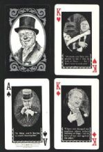 Collectible Vintage playing cards W.C.Fields 1971